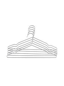 Casa Stockmann - Casa Glo -vaateripustin 5 kpl - SILVER | Stockmann