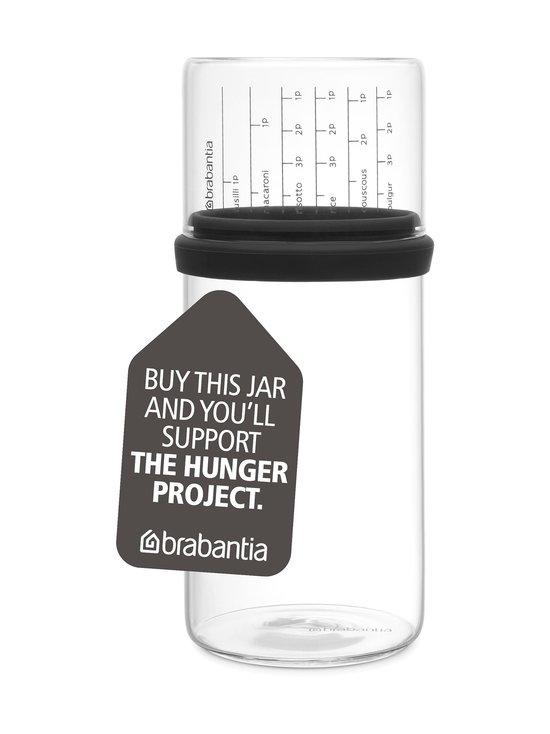 Brabantia - Glass Storage Jar -lasipurkki ja mitta-astia 1 l - HARMAA | Stockmann - photo 1