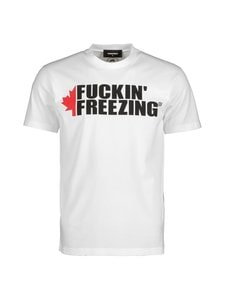 Dsquared - Fuckin' Freezing T-Shirt -paita - 100 WHITE | Stockmann