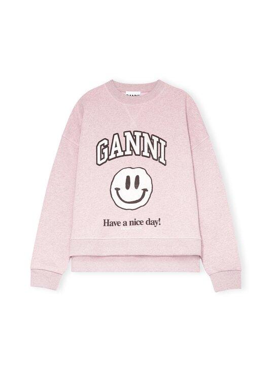 Ganni - Isoli Dropped Shoulder Sweatshirt, Smiley -collegepaita - PALE LILAC PALE LILAC   Stockmann - photo 1