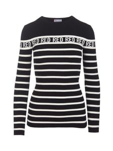 RED Valentino - Stripe-neule - 0NA BLACK CBO | Stockmann