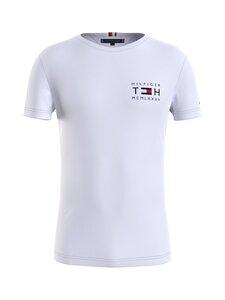 Tommy Hilfiger - Stretch Slim Corp Tee -paita - YBR WHITE   Stockmann