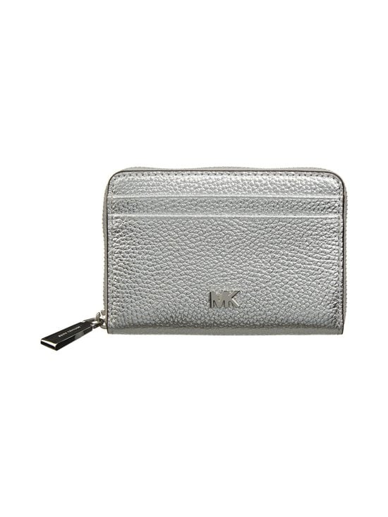 Michael Michael Kors - Mott Zip Around Coin Card Case -nahkalompakko - 040 SILVER | Stockmann - photo 1