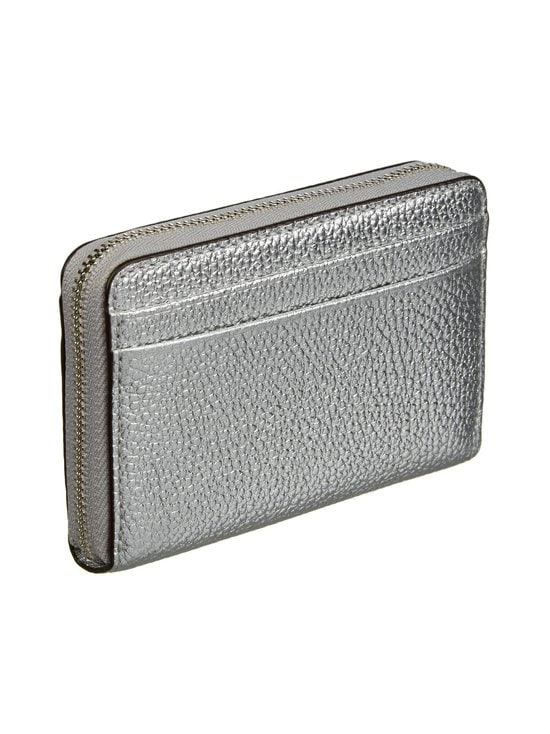 Michael Michael Kors - Mott Zip Around Coin Card Case -nahkalompakko - 040 SILVER | Stockmann - photo 2