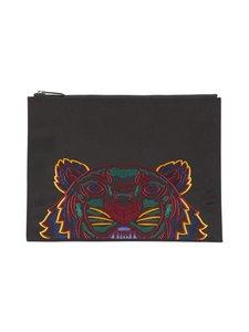 Kenzo - A4 Tiger Canvas Clutch -laukku - 99CBLACK | Stockmann