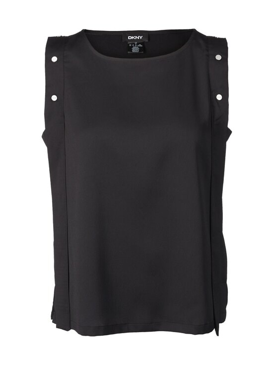 Dkny - Snap Sleeveless Tank Top -pusero - BLACK | Stockmann - photo 1