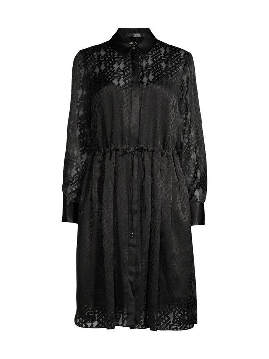Karl Lagerfeld - Burn Out Logo Satin Dress -mekko - 999 BLACK | Stockmann - photo 1