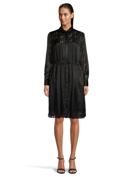 Karl Lagerfeld - Burn Out Logo Satin Dress -mekko - 999 BLACK | Stockmann - photo 2