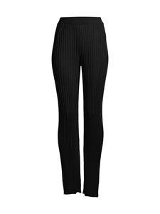 NA-KD - Ribbed Knited Pants -neulehousut - BLACK | Stockmann