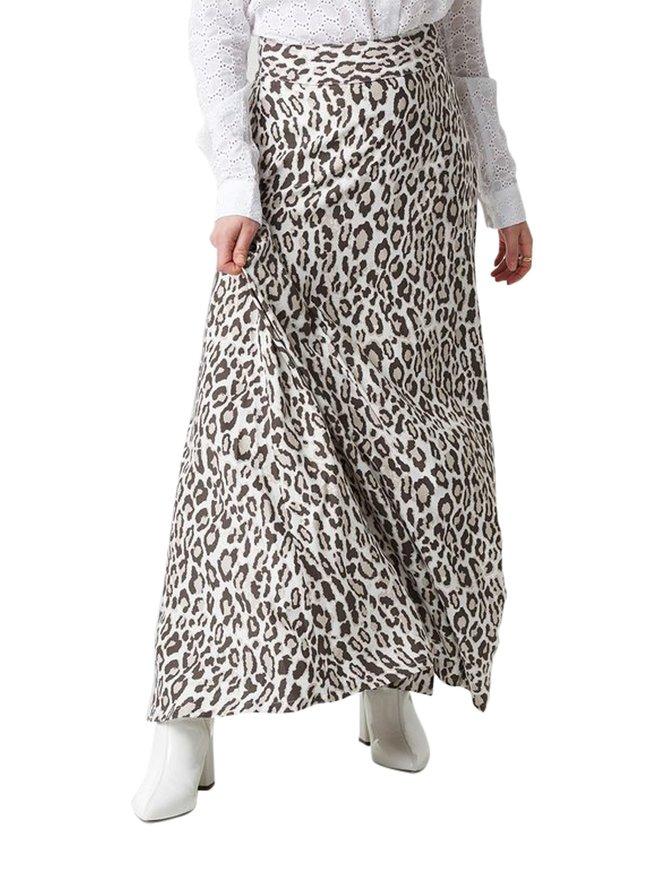 Leopard Maxi Skirt -hame