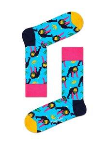 Happy Socks - Monkey-sukat - 6300-LIGHT BLUE | Stockmann