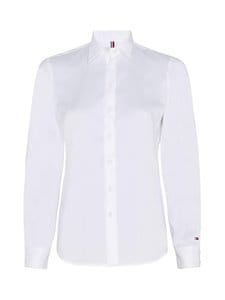 Tommy Hilfiger - Brittany Slim Solid -pusero - YCF TH OPTIC WHITE | Stockmann