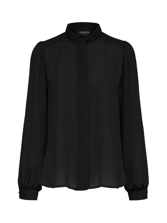 Selected - SlfMaya LS Shirt -pusero - BLACK | Stockmann - photo 1