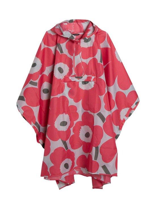 Marimekko - Rain Poncho Unikko -sadeponcho - 361 PINK, DARK GREEN, PINK | Stockmann - photo 1