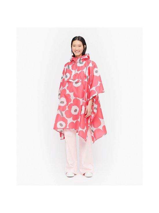 Marimekko - Rain Poncho Unikko -sadeponcho - 361 PINK, DARK GREEN, PINK | Stockmann - photo 3
