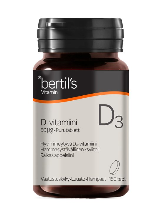 Bertils - D-vitamiini 50 µg -ravintolisä 150 tabl. - NOCOL   Stockmann - photo 1