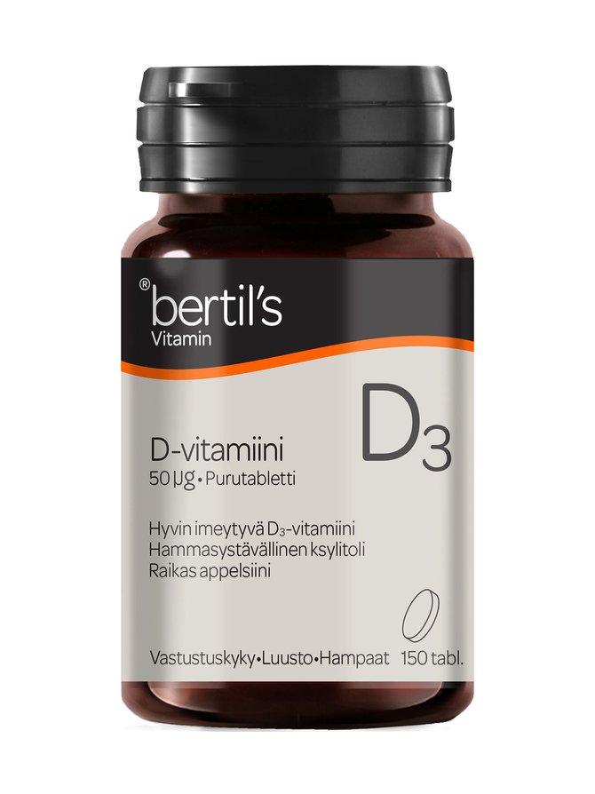 Bertil´s D-vitamiini 50 µg 150 tabl.