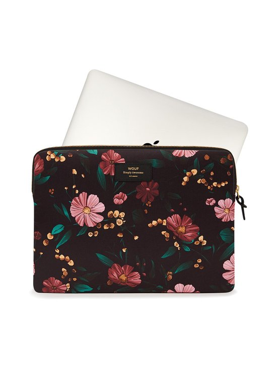 WOUF - Black Flowers Laptop Sleeve 15