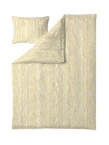Finlayson - Tiuhta-pussilakanasetti 150 x 210 + 50 x 60 cm - YELLOW/WHITE | Stockmann