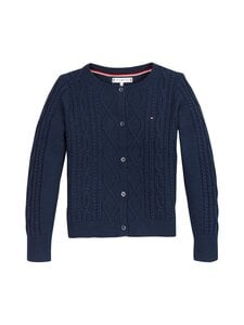 Tommy Hilfiger - Cable Cardigan -neuletakki - C87 TWILIGHT NAVY | Stockmann