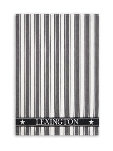 Lexington - Striped Cotton -keittiöpyyhe 50 x 70 cm - BLACK/WHITE | Stockmann