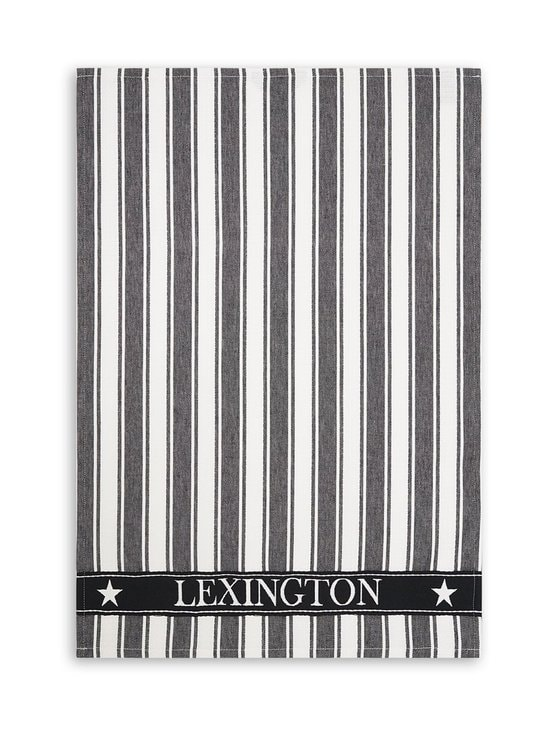 Lexington - Striped Cotton -keittiöpyyhe 50 x 70 cm - BLACK/WHITE | Stockmann - photo 1