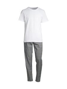 CONSTRUE - Okinawa-pyjama - WHITE/BLUE CHECK | Stockmann