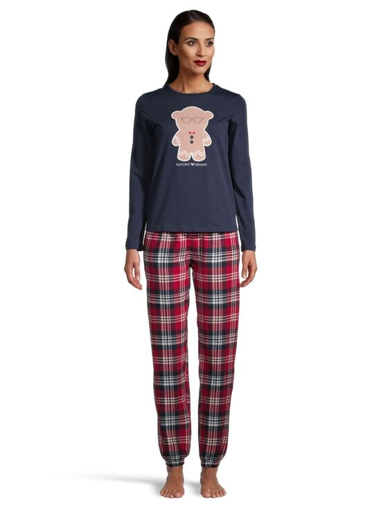 Emporio Armani - Pyjama - 01937 CHECK_MARINE BLUE | Stockmann - photo 2