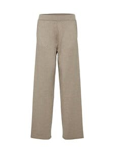 Selected - SlfInka Medium Waist Long Knit Pant -neulehousut - SAND DETAIL:MELANGE | Stockmann