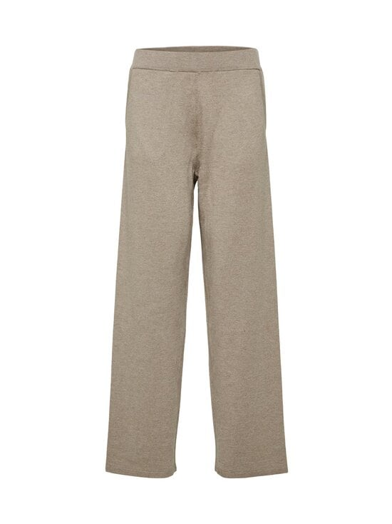 Selected - SlfInka Medium Waist Long Knit Pant -neulehousut - SAND DETAIL:MELANGE | Stockmann - photo 1
