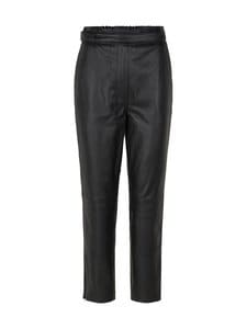 SECOND FEMALE - Indie Leather Trousers -nahkahousut - 8003 CAVIAR | Stockmann
