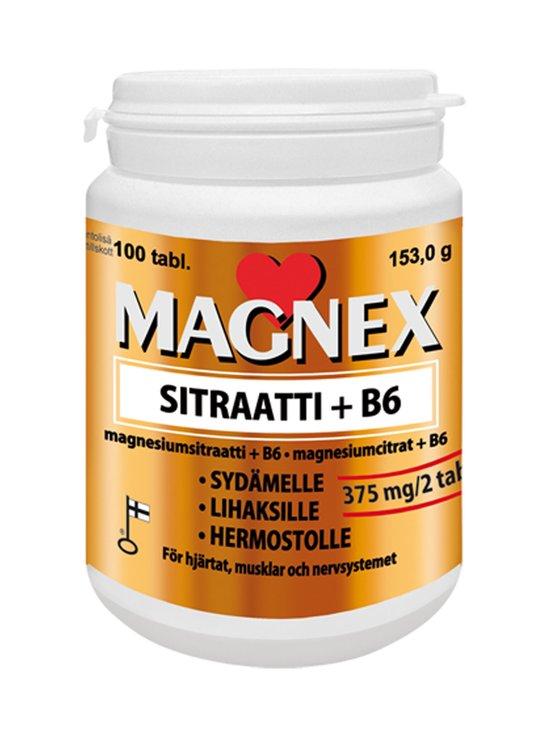 Vitabalans - Magnex sitraatti 375 mg + B6 -magnesiumsitraatti-B6-ravintolisä, 100 tablettia - NOCOL | Stockmann - photo 1