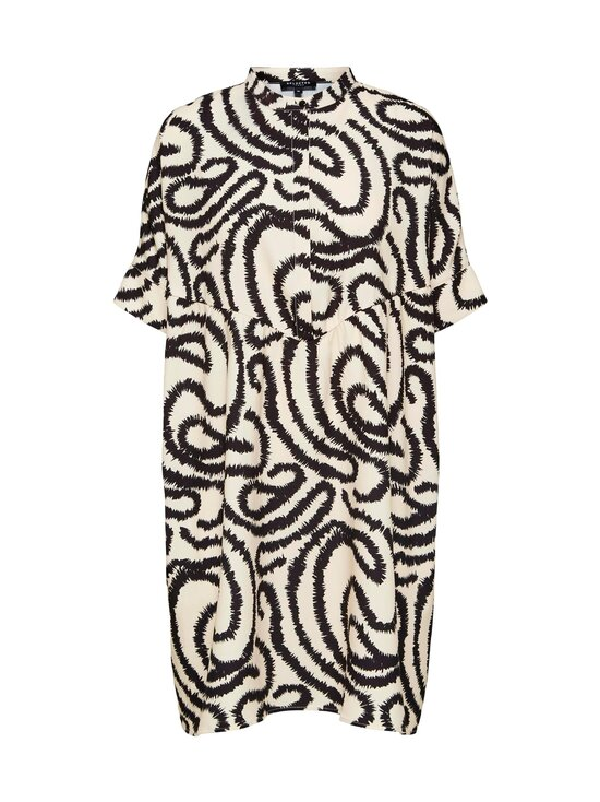 Selected - SlfMarilyn-Viola 2/4 Dress -mekko - SANDSHELL AOP:W BLACK   Stockmann - photo 1