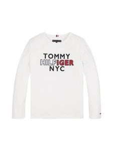 Tommy Hilfiger - Long Sleeve New York Logo Tee -paita - YBR WHITE | Stockmann