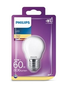 Philips - LED 6,5W E27 P45 -lamppu - WHITE | Stockmann