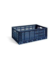 HAY - Colour Crate L -laatikko 60 x 40 x 22 cm - NAVY | Stockmann