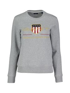 GANT - Archive Shield C-Neck Sweat -collegepaita - 93 GREY MELANGE | Stockmann