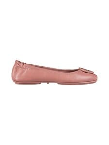 Tory Burch - Minnie Travel Ballet With Leather Logo -nahkaballerinat - 650 ROSA / ROSA | Stockmann