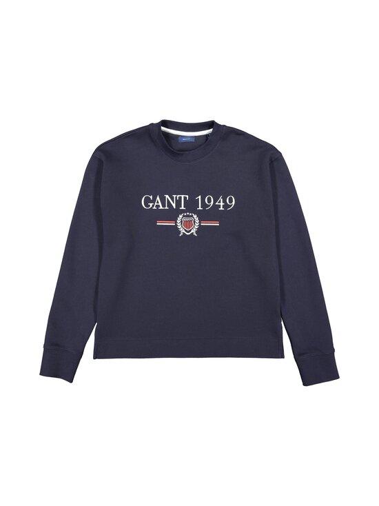 GANT - D1. Crest 1949 C-Neck Sweat -collegepaita - 433 EVENING BLUE | Stockmann - photo 1