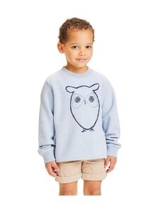 Knowledge Cotton Apparel - Lotus Owl Sweat -collegepaita - 1259 SKY WAY MELANGE | Stockmann
