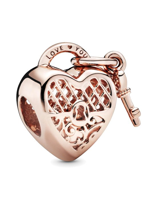 Pandora - Heart Padlock and Key - ROSE | Stockmann - photo 1