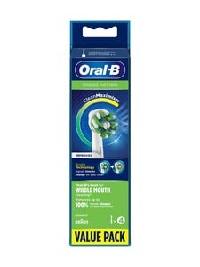 Oral-B - CrossAction -harjaspää 4 kpl - WHITE | Stockmann
