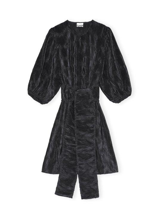 Ganni - Pleated Satin Wide Dress -mekko - BLACK   Stockmann - photo 1
