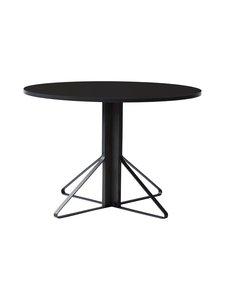 Artek - REB004 Kaari -pöytä, HPL - BLACK GLOSSY/BLACK OAK (MUSTA) | Stockmann