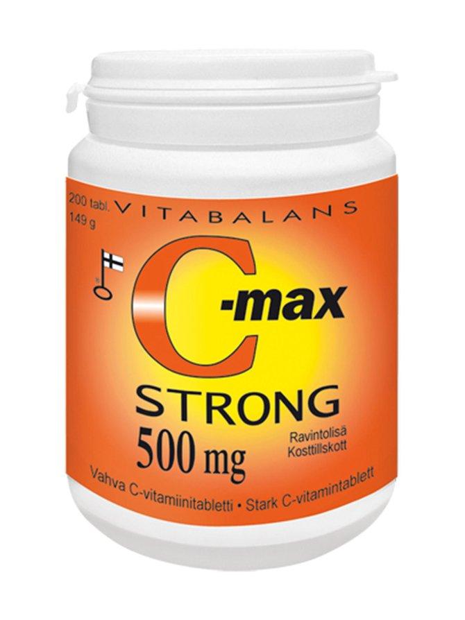 C-Max Strong -vahva C-vitamiinivalmiste, ravintolisä 200 tabl./149 g