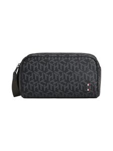 Tommy Hilfiger - Coated Canvas Washbag -toilettilaukku - 0GJ BLACK MONOGRAM | Stockmann