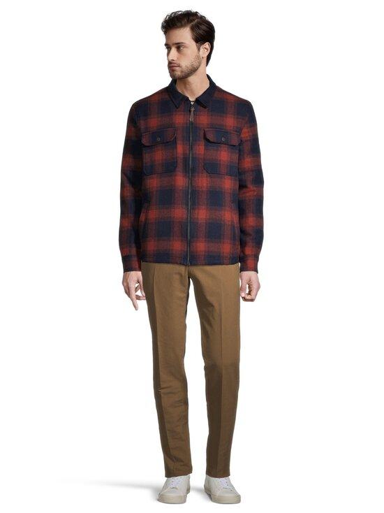 Superdry - Hunting ZipThru Wool Overshirt -takki - 4TI RUST OMBRE CHECK | Stockmann - photo 2