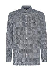 Tommy Hilfiger - Slim Flex Micro Geo Print Shirt -kauluspaita - 0GY CARBON NAVY / ECRU   Stockmann