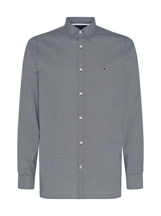 Tommy Hilfiger - Slim Flex Micro Geo Print Shirt -kauluspaita - 0GY CARBON NAVY / ECRU | Stockmann - photo 1