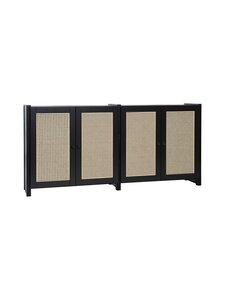 Lundia - Classic-kaappi 32 x 79 x 164,5 cm - BLACK LACQUERED PINE / RATTAN | Stockmann